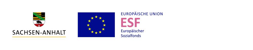 Logoleiste Land Sachsen-Anhalt und Europäische Union – Europäischer Sozialfonds
